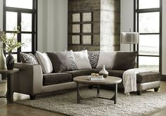 The Shimmer Asia Zanzabar two-piece sectional is a stunning, trendy piece that brings bold style to your living room. The frame and arms are covered in a metallic grey leather-like material, while the cushions are covered in a dark grey crushed velvet that is soft and luxurious. Scatterback pillows are [...]