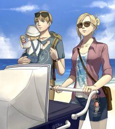 Armin, Eren And Mikasa, Levi X Eren, Attack On Titan Comic, Attack On Titan Ships, Attack On Titan Fanart, Got Anime, Anime Guys, Anime Couples