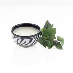 Zaza Zebra Candle - Gardenia. Stylish stoneware bowl with a fresh floral fragrance. http://budurl.me/9dbq.