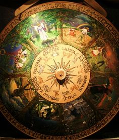 The Wheel of the Year is a symbol of the eight Sabbats (religious festivals) of Neo-Paganism and the Wicca movement which includes four solar festivals (Winter. Samhain, Mabon, Sabbats, Practical Magic, Nouvel An, Book Of Shadows, Faeries, Magick, Religion