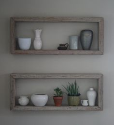 Rustic Wood Box Shelf