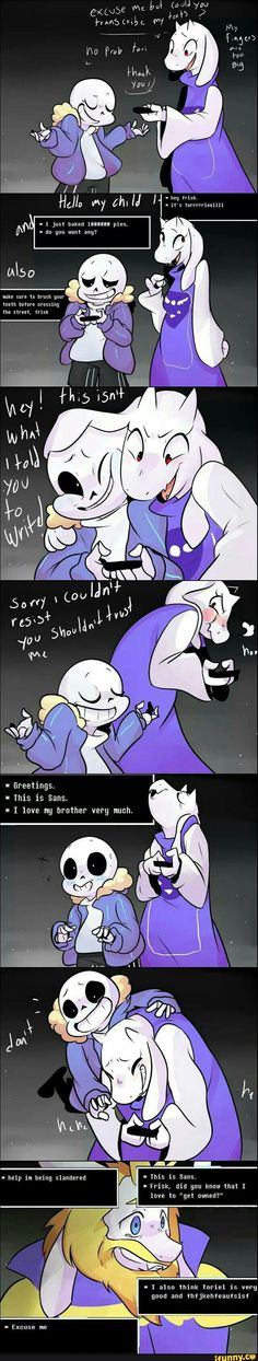 undertale, slaptastic, soriel. Aw,  poor Asgore. But . . . Really, this is probably the first time he's seen Toriel happy since before she left.