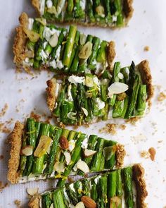 My asparagus and lemon labne tart with a vegan crust is perfect for a weekend lunch now spring…