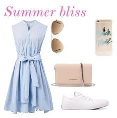 """""""Summer bliss"""" by abbyjones22 ❤ liked on Polyvore featuring Chicwish, Converse, Givenchy and Ray-Ban"""