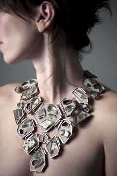 Tara Locklear: Unbridled Royalty. concrete, found glass, sterling silver