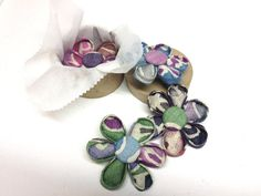 Kanzashi Flower Brooch Hairclip Vintage Japanese Hemp by QuiltyCo, $14.50