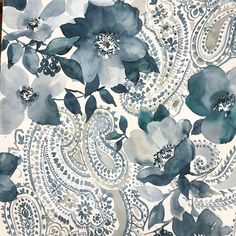 """114 Likes, 11 Comments - Sandra Jacobs (@sandrajacobsdesign) on Instagram: """"Preparing for upcoming #heimtextil # freehand painting paisleys into Delft Blue's, maybe because I…"""""""