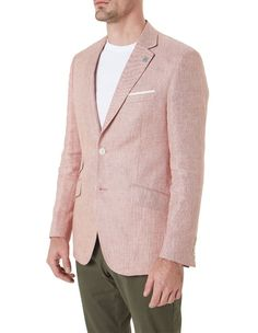 """Wolf Kanat """"Red"""" Linen Sports Jacket, Wedding Suits, Wolf, Dressing, Pure Products, Blazer, Red, Jackets, Shopping"""