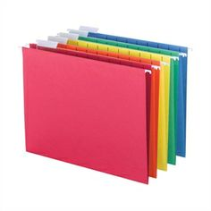 Picture of Color-Code Hanging Files - Multicolor Set of 25