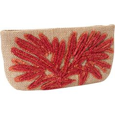 Moyna Handbags Large Cosmetic Pouch Nat/Rust - Moyna Handbags Ladies Cosmetic Bags