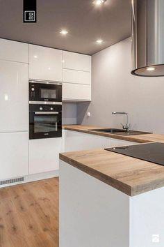 50 Best Farmhouse Apartment Kitchen Decorating Ideas – My World Kitchen Room Design, Modern Kitchen Design, Interior Design Kitchen, Kitchen Ideas, Modern Kitchen Interiors, Modern Kitchen Cabinets, Gloss Kitchen, Farmhouse Style Kitchen, Farmhouse Ideas