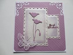 Bilderesultat for memory box birthday banner die cards image Memory Box Cards, Memory Box Dies, Butterfly Cards, Flower Cards, Poppy Cards, Purple Cards, Spellbinders Cards, Mothers Day Cards, Sympathy Cards