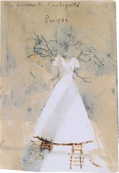 "Anselm Kiefer ~ ""Les femmes de l'antiquité"" (2000) spackling over photo - I love this, need to search for the artist. S and I love when someone saves me, thank you Nancy. S"