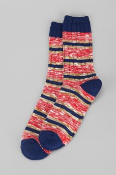 Stripe Slub Camp Sock