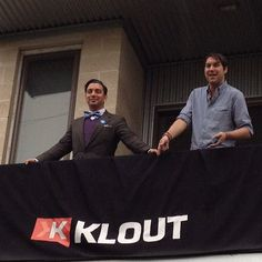 """@littleylittley and @db holding down the #kloutkrib"" -- via @dollyhall"