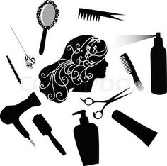 "Buy the royalty-free Stock vector """"Fashionable hairdress the hairdresser the hair dryer a hairbrush"" online ✓ All rights included ✓ High resolution vec. Silhouette Vinyl, Silhouette Cameo Projects, Vinyl Crafts, Vinyl Projects, Ceramic Hair Straightener, Stencil Patterns, Paint Shop, Hair Brush, Cricut Design"