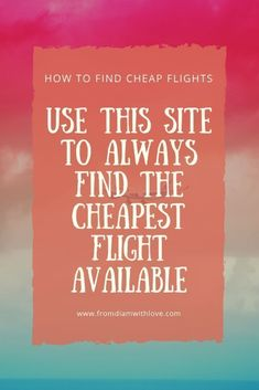 Did you know different sites charge different prices for the same flights? Here's my favorite site to always find the cheapest flight possible. Cheap Last Minute Flights, Find Cheap Flights, Cheapest Flights, Budget Flights, Low Cost Flights, Travel Tours, Travel Hacks, Travel Destinations, Air Travel