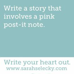 Involving a pink post-it note.