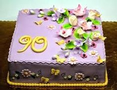 Welcome to London Cakes.Birthday Cakes and Cupcakes delivered all over London and Surrey 90th Birthday Cakes, Birthday Cake For Mom, Birthday Cake With Flowers, 90th Birthday Parties, Beautiful Birthday Cakes, 90 Birthday, London Cake, Mom Cake, Personalized Cake Toppers
