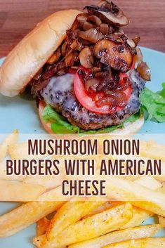 Cheeseburgers are as American as they come and this quick and easy recipe will have dinner on the table in a flash. Mushrooms and onions make an appearance to be the lead of this dish! Cheeseburger Sliders, Cheeseburgers, Slider Recipes, Sandwich Recipes, Burger Barn, Onion Burger, Pizza And More, Mushroom And Onions, American Cheese