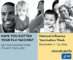 Celebrate National Immunization Week by getting your flu shot!