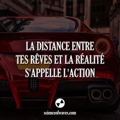 La distance entre tes rêves et la réalité s'appelle l'action - Tap the link now to Learn how I made it to 1 million in sales in 5 months with e-commerce! I'll give you the 3 advertising phases I did to make it for FR The Words, Cool Words, Best Quotes, Life Quotes, Motivational Quotes, Inspirational Quotes, Burn Out, Lema, Quote Citation