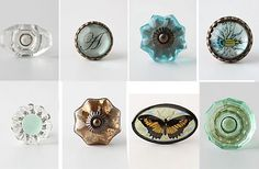 Itching to refinish something and use gorgeous knobs like this!