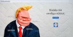 """Möttes av denna reklam på SvD, där företaget Sova försöker """"skoja"""" till det – eller tar de politisk ställning i det amerikanska presidentvalet genom att ge Trump en känga och visa… Visa, Jansport Backpack, Rain Jacket, Windbreaker, Backpacks, Jackets, Bags, Down Jackets, Handbags"""