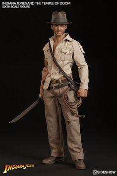 Indiana Jones Indiana Jones - Temple of Doom Sixth Scale Fig Harrison Ford, Indiana Jones, Wil Wheaton, Idol, Custom Checks, Comic, Live Action Movie, Sideshow Collectibles, Cool Toys