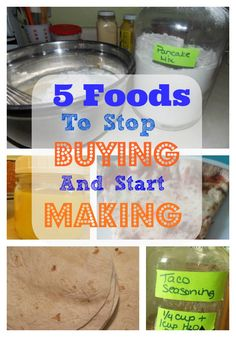 5 Foods to Stop Buying and Start Making The Homesteading Hippy - http://thehomesteadinghippy.com/5-foods-to-stop-buying-and-start-making-at-home/#_a5y_p=1211858