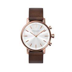 Γυναικείο κλασικό αναλογικό smartwatch ρολόι KRONABY SWEDEN A1000-1401 Connected Watch Carat με ροζ κάσα, ασημί καντράν και δέρμα | ΤΣΑΛΔΑΡΗΣ στο Χαλάνδρι #kronaby #watch #smartwatch #connectedwatches #carat #ρολοι #tsaldaris Shops, Mesh Band, Mesh Bracelet, Carat Gold, Dark Brown Leather, Winter Accessories, Gold Watch, Smart Watch, Rose Gold