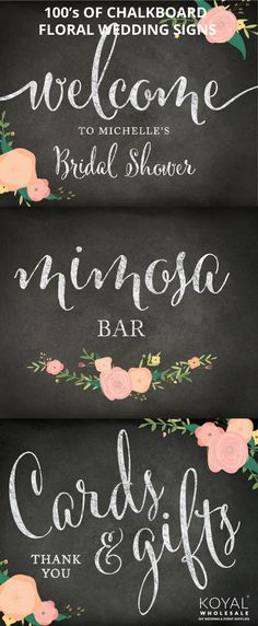 100's of chalkboard wedding signs for your special day  FREE SHIPPING @ $99+  Wholesale chalkboard wedding supplies, event centerpieces and floral decorations on sale     FREE SHIPPING on $99+ Koyal Wholesale is the destination for DIY brides, event planners, and florists looking for wholesale wedding and event supplies, ideas, and decorations     Vases, votives, chargers, table linens, branches, table centerpieces, and more!