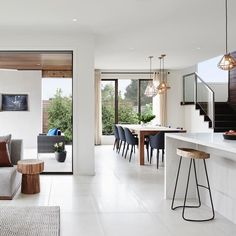 Impeccable 'Montpellier 43' display home featuring Caesarstone Calacatta Nuvo island & Caesarstone Snow back benches This display by @boutiquehomesvictoria is exquisite #weloveit #caesarstone