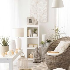 Your living room can be your safe haven too. #ShopNow -- Click link on @maisonsdumonde -- #UrbanJungle #Cocoon #armchair #Ondangwa #lantern #Kibumgo #statuette #bouddha #instadeco #mymdm #maisonsdumonde
