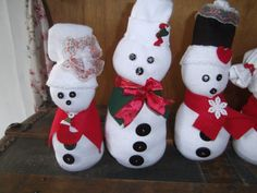I am making these snowmen.  Every single one of them is different and unique!! Having a blast !!!