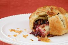 Brie en Croute with Raspberry and Pecans