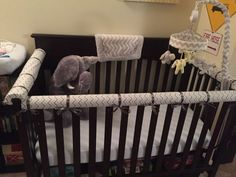 Walk With The Andrews: DIY: No-Sew Crib Teething Rail Cover