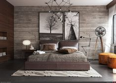17 Timeless Rustic Bedroom Designs That Never Go Out Of Style Rustic style is a popular interior design direction that can be very diverse and interesting and can be very well combined with other styles. This style Master Suite Bedroom, Rustic Master Bedroom, Home Decor Bedroom, Bedroom Furniture, Bedroom Ideas, Log Furniture, Bedroom Curtains, Furniture Movers, Bedroom Inspiration