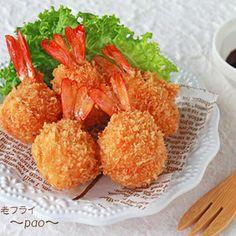 コロコロ海老フライ☆子供の日やお弁当に in 2020 Chinese Food, Japanese Food, Sushi Sauce, Chicken Menu, Kawaii Cooking, Kids Menu, Food Blogs, Bento, Easy Desserts