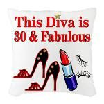 30TH PRIMA DONNA Burlap Throw Pillow http://www.cafepress.com/jlporiginals/12454103 #30thbirthday #30yearsold #Happy30thbirthday #30thbirthdaygift #30andfabulous #turning30  #happy30th
