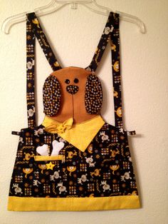 "Not ""technically"" a dog but a very cute little doggie apron by @Chillygal"