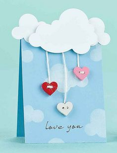 Love You Card by @Amy Wanford