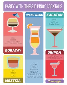 INFOGRAPHIC: Party with These Pinoy Cocktails | Prepping | yummy.ph