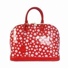 M93627 Louis Vuitton Yayoi Kusama Alma Pm Red Louis Vuitton Damen Taschen