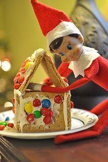 elf on shelf gingerbread house - Google Search