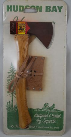 Vintage Norlund hatchet/axe in the original packaging ...
