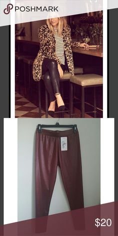 Vegan leather pants Seriously sleek vegan leather pants. Cut skin-tight with lots of stretch for a perfect fit. Super comfortable fit! Wine/burgundy color Pants Leggings