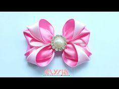 Ribbon Bow Ideas With Rhinestone | DIY by Elysia Handmade Material : Satin Ribbon 8 x 2.5*20 cm Another DIY by Elysia Handmade DIY Crown Headband https://you...