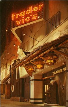 Trader Vic's.  Fun polynesian style restaurant that used to be numerous but only a few remain.  Used to love their sweet and sour pork.