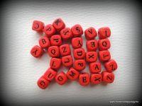 Betűs fagyöngy - piros 30db fagy6